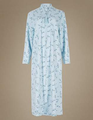 Marks and Spencer Floral Print Quilted Dressing Gown