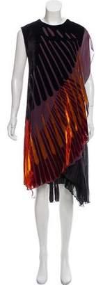 Rue Du Mail Devoré Knee-Length Dress w/ Tags
