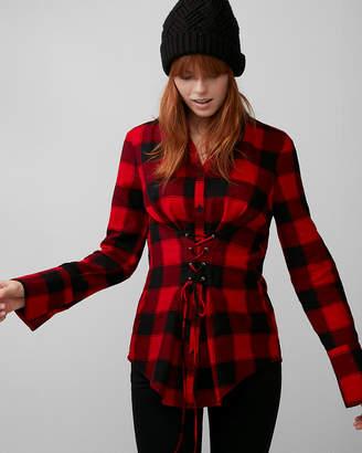 Express Check Flannel Corset Shirt
