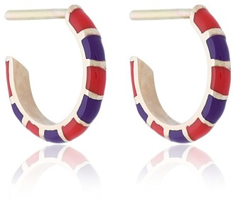 Alice Cicolini 14k striped hoop earrings