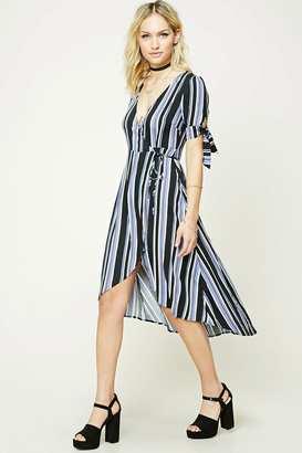 FOREVER 21+ Striped Wrap-Front Midi Dress $24.90 thestylecure.com