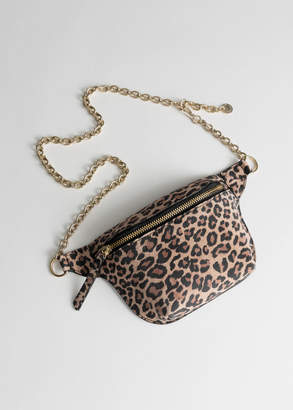 And other stories Leopard Chain Beltbag