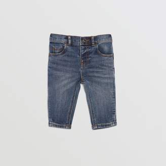 Burberry Relaxed Fit Stretch Denim Jeans
