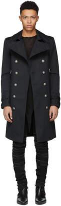 Balmain Black Long Double-Breasted Coat