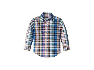 Janie and Jack Long Sleeve Button-Up Shirt (Toddler/Little Kids/Big Kids)