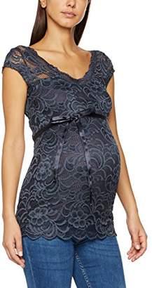 Mama Licious Mamalicious Women's Mlmivana Cap Jersey Top A. Maternity T - Shirt, Ombre Blue, (Size: Medium)