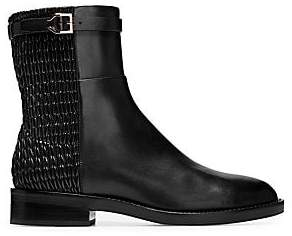 Cole Haan Women's Lexi Grand Stretch Leather and Woven Ankle Boots