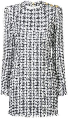 Balmain tweed-effect dress