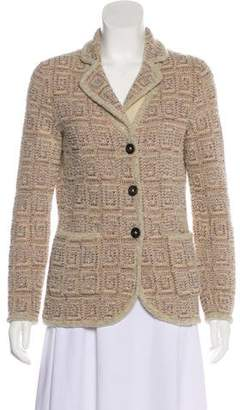 Rena Lange Knit Notched-Lapel Blazer
