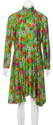 Balenciaga 2016 Floral Print Dress