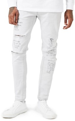 Men's Topman Aaa Collection Voices Print Skinny Fit Jeans $110 thestylecure.com