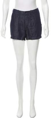 Nili Lotan Chambray Mini Shorts