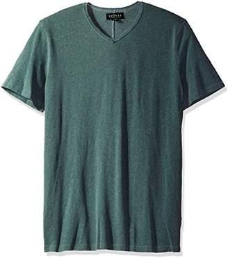 Velvet by Graham & Spencer Men's Stan Oil Washed Linen Short Sleeve V Neck Shirt