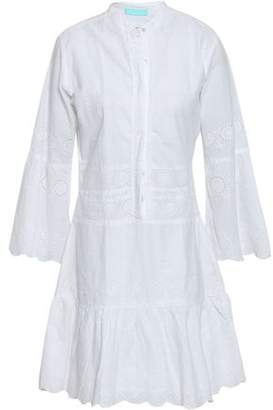 Melissa Odabash Abby Embroidered Scalloped Cotton Coverup