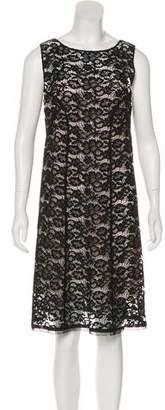 Nina Ricci Lace Knee-Length Dress