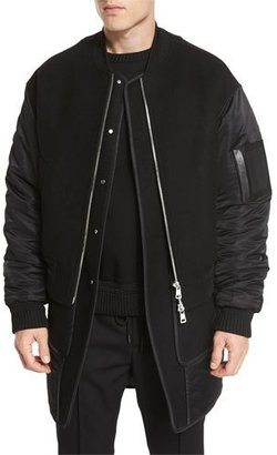 Juun J Double-Layer Bomber Jacket/Vest Combo $2,115 thestylecure.com