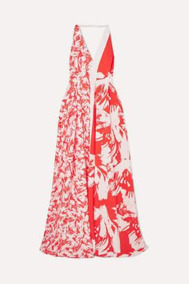 Roland Mouret Berkeley Printed Cloqué Gown - Red