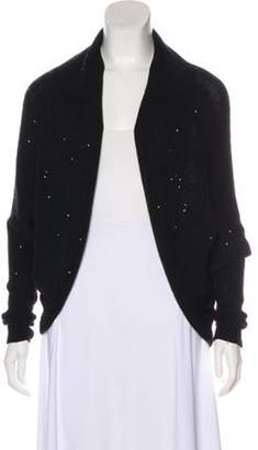 Armani Collezioni Embellished Open Front Cardigan Black Embellished Open Front Cardigan