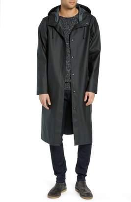 Stutterheim Long Logo Print Waterproof Raincoat