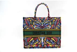 Christian Dior Book Tote cloth tote