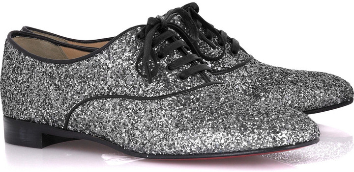 Christian Louboutin Fred glitter lace-up shoes