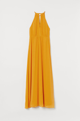 H&M Creped Long Dress - Yellow