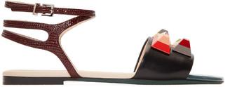 Fendi Multicolor Rainbow Sandals $750 thestylecure.com