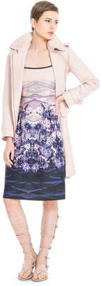Max Studio printed bonded satin dress