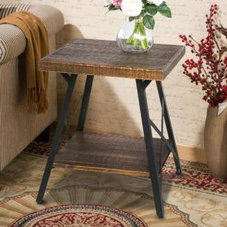 Harper&Bright designs Solid Wood Coffee Table with Metal Legs, End Table/Living Room Set