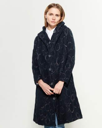 Tandem Circle Long Sleeve Wrap Coat