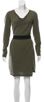 White + Warren Silk-Blend Mini Dress