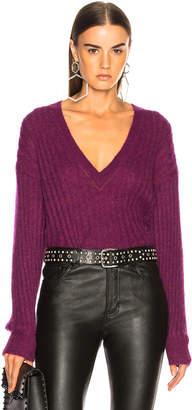 IRO Wall Sweater in Magenta Purple   FWRD