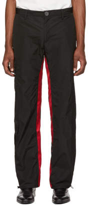 Wales Bonner Black and Red Nylon Cargo Pants