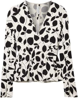Narciso Rodriguez Printed Stretch Silk-crepe Top