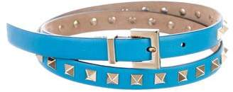 Valentino Rockstud Leather Belt