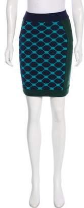 Timo Weiland Knee-Length Intarsia Skirt