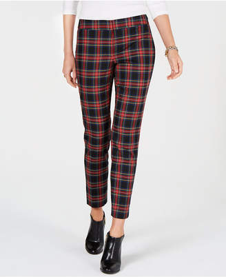 Tommy Hilfiger Plaid Slim-Fit Trousers