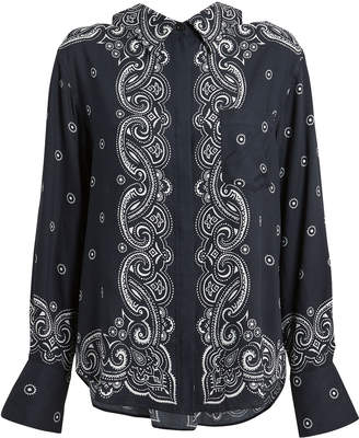 ADEAM Bandana Print Shirt