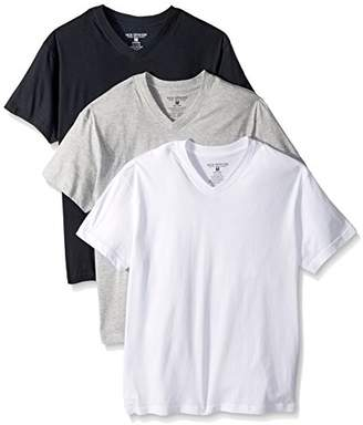 Nick Graham Men's 3-Pack Basic Cotton V-Neck T-Shirt | The Most Comfortable Undershirt