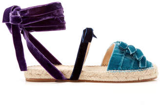 ATTICO Alma Velvet Espadrille Sandals