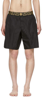 2d40a86cff Versace Underwear Black Greek Key Border Swim Shorts