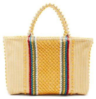 Antonello Tedde - Telti Striscia Striped Cotton Tote - Womens - Yellow Multi