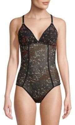 Cosabella Floral Print Bodysuit