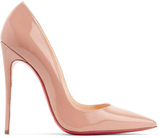 Christian Louboutin So Kate 120 Patent-leather Pumps - Beige