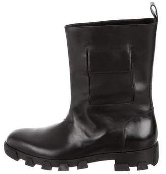 Balenciaga Leather Round-Toe Boots w/ Tags