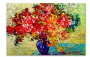 "Laurèl Trademark Global Marion Rose 'Laurel' Canvas Art - 19"" x 12"" x 2"""