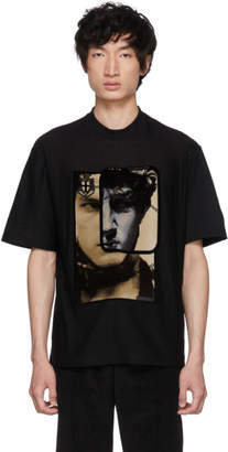 Prada Black Printed Face T-Shirt