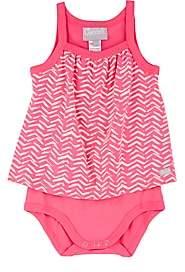 Cocolli Infants' Zigzag-Print Cotton Bodysuit-Pink