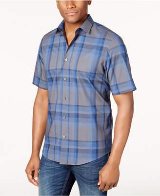 Alfani Men's Classic Fit Plaid Shirt, Created for Macy's