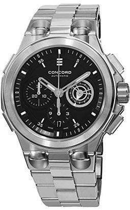 Concord コンコードc2自動Chronogrphメンズステンレススチールブラックダイヤルスイス製Watch 0320178